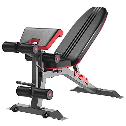 Banco de pesas ajustable, banco de pesas plegable para entrenamiento, banco de pesas multifuncional, banco de abdominales 3 en 1, banco de ejercicios para el hogar
