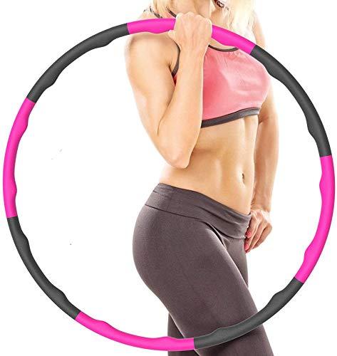 QASIMOF Fitness Hoop Reifen Erwachsene Kinder zur Gewichtsabnahme Massage, 6-8-Segmente Abnehmbarer für Fitness/Sport/Zuhause/Büro/Bauchformung