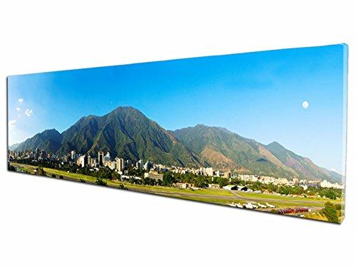 Foto Canvas Cuadro El Ávila Caracas Venezuela   Fotografía Panorámica Impresa en Lienzo   Cuadros Mini Panorámicos Listos para Colgar   Decoración Tamaño 60 x 15 cm
