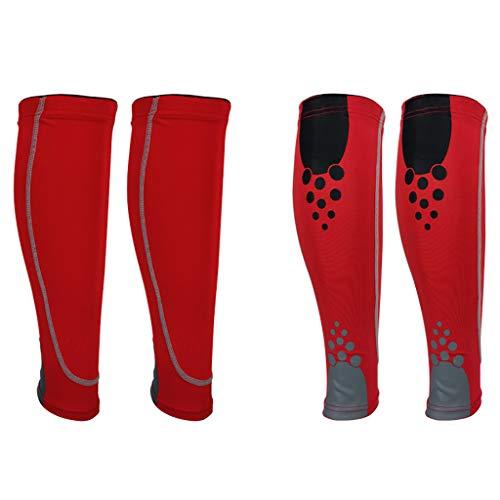 Yonghong 1 Paar Wadenkompressionshülle Beinmuskelschutz Schienbeinschoner Beinorthese Für Outdoor-Basketball, Fußball, Kniestrümpfe D-M