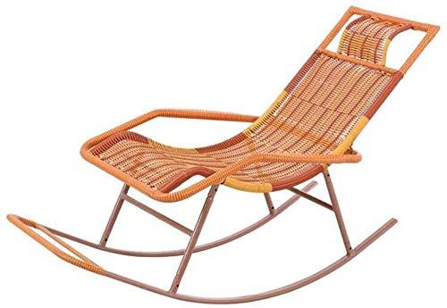 Schommelstoel, rieten stoel voor volwassenen Loungestoel Ligstoel Schommelstoel Luie schommelstoel Oude manstoel Balkonstoel Fauteuil