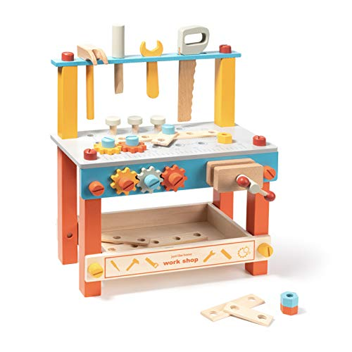 ROBUD Wooden Workbench Set for Kids Toddlers