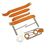 CVBN 1 Juego de Herramientas de desmontaje de Audio para automóvil, Herramienta de Palanca de reparación de instalador de extracción de Panel automático, Naranja, 12pcs / Set