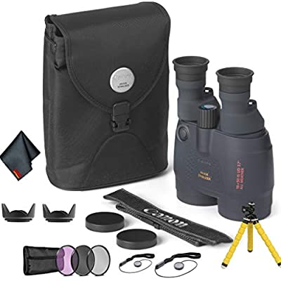 Canon 18x50 Image Stabilization All-Weather Binoculars - Bundle with Tulip Lens Hoods, Tripod + More from Canon