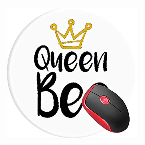 Mouse Pad Queen Bee, Round Mousepad, Non-Slip Rubber Base Mouse Mat for Laptop and Computer