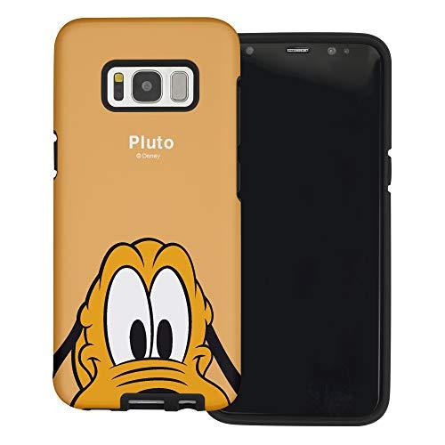 Funda Galaxy S7 [Protección híbrida contra caídas] Disney Pluto Linda Doble Capa Hybrid Carcasas [TPU + PC] Parachoques Cubierta para [ Samsung Galaxy S7 ] - Pluto Orange