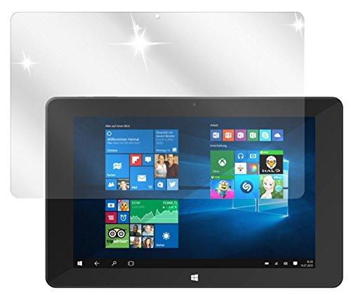 dipos I 2X Schutzfolie klar kompatibel mit TrekStor SurfTab Duo W1 Volks-Tablet Folie Bildschirmschutzfolie
