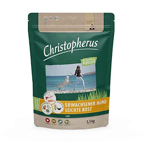 Christopherus Light - Nourriture complète pour Chien Adulte en surpoids ou Faible activité - Croquettes sèches - Volaille, Riz, orge - Environ 1 cm - Chien Adulte - 1,5 kg