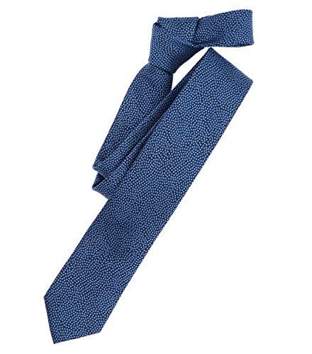 Venti Herren Krawatte gemustert dunkles Mittelblau Einheitsgröße