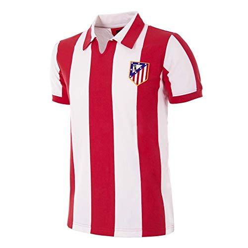 copa Atletico de Madrid 1970-71 Retro Football Shirt, Camiseta, Red-White, Talla M