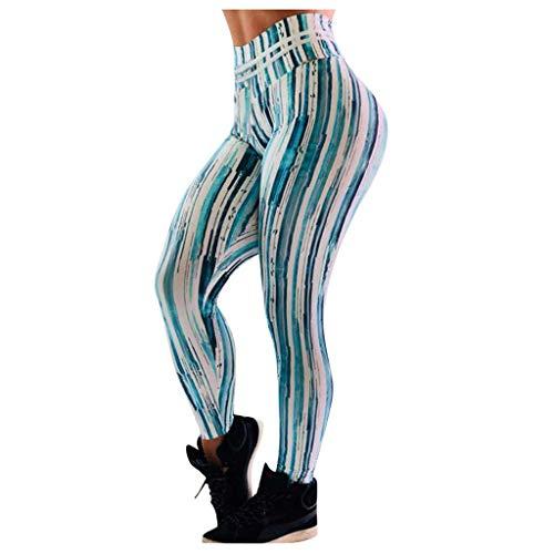 ZHANGYY Pantalones de Yoga Deportivos Deportivos para Mujer Pantalones de Entrenamiento Impresos Cadera Leggings de Cintura Alta Medias de Entrenamiento físico