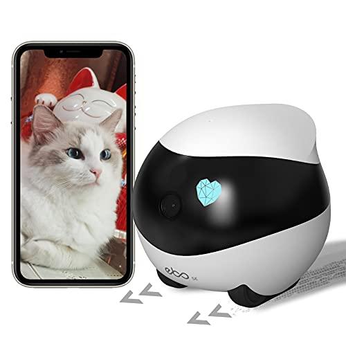 Enabot Ebo SE Bewegliche Überwachungskamera Sicherheitskamera für Zuhause, 1080P Wlan IP Kamera, kabellose Dome Kamera mit Nachtsicht, Auto-Cruise, Selbstaufladung, Bewegungserkennung, 2 Wege Audio