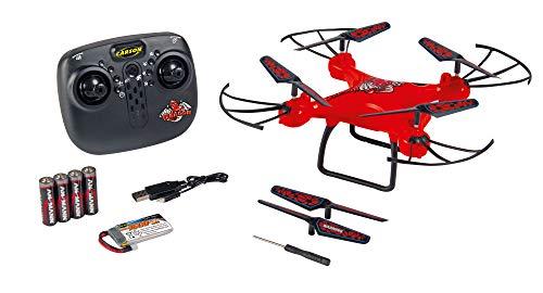 Carson 500507159 X4 Quadcopter Dragon 330 2.4G rot, 100% flugfertig, automatische Start-und Landefunktion und Höhenhaltung, für Einsteiger