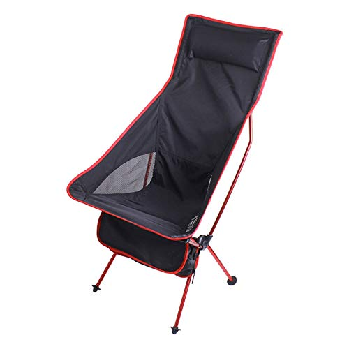 GDYJP Silla Plegable portátil al Aire Libre, sillón Ultraligero para la Pesca de Viaje Camping Picnic Barbacoa Heces (Color : Red)