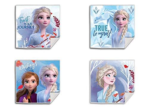 Palleon Set di 4 asciugamani magici in cotone, motivo: Frozen