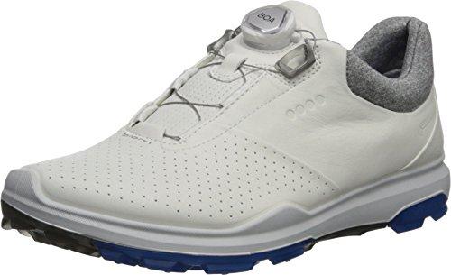 ECCO Men's Biom Hybrid 3 BOA Gore-Tex Golf Shoe, White/Dynasty Yak Leather, 44 M EU (10-10.5 US)