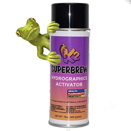 Hydrographic Film Activator - K2 Super Brew 16 Oz Aerosol Spray Can Hydro Graphic Water Transfer Activator Hydro Dip Dipping