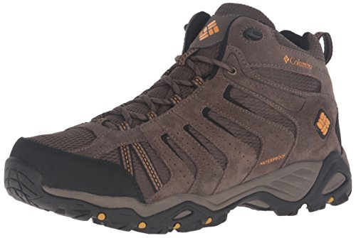 Columbia Men's North Plains II Waterproof MID Hiking Boot, Mud, Squash, 11 D US