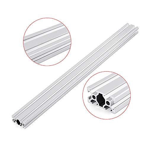 Belupai 2040 - Marco de extrusión para perfiles de aluminio con ranura en T (longitud CNC, 500 mm), color plateado