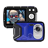Vmotal Underwater Camera Waterproof Digital Action Camera 1080P 16MP HD Rechargeable Camera for Snorkeling, Camping, Underwater, Swiming (Blue)