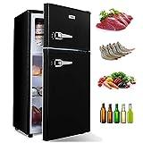 WANAICompactRefrigerator2DoorMiniFridgewithFreezerAdjustableRemovableShelvesR...