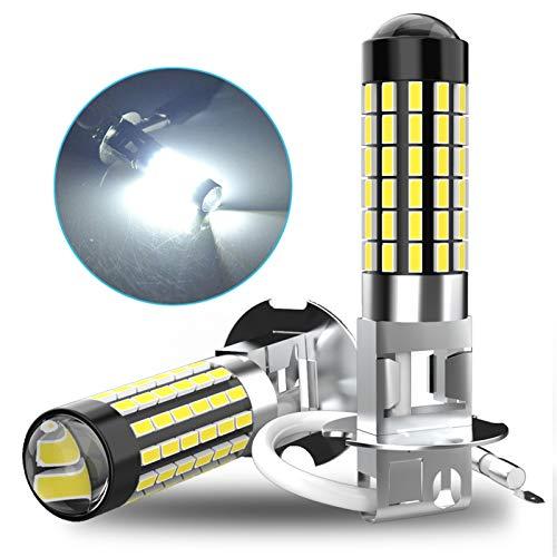 YEZHENGHUA Yzhua 2X LED Coche Niebla luz Bombilla H1 H3 H27 880 881 Ajuste para Chevrolet Niva Cruze Lacetti Aveo Cobalt Captiva Orlando Spark Lanos Epica Tahoe (Socket Type : H27/881)