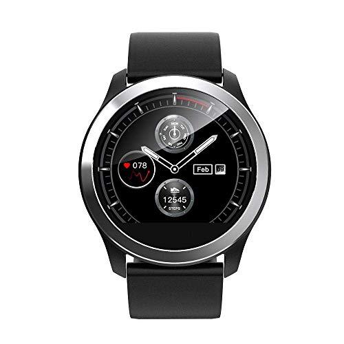 DYJNK - Reloj inteligente con gráfico de lectura ECG y monitor de frecuencia cardiaca para la presión arterial, correa de acero inoxidable con brillo ajustable Smartwatch IP68