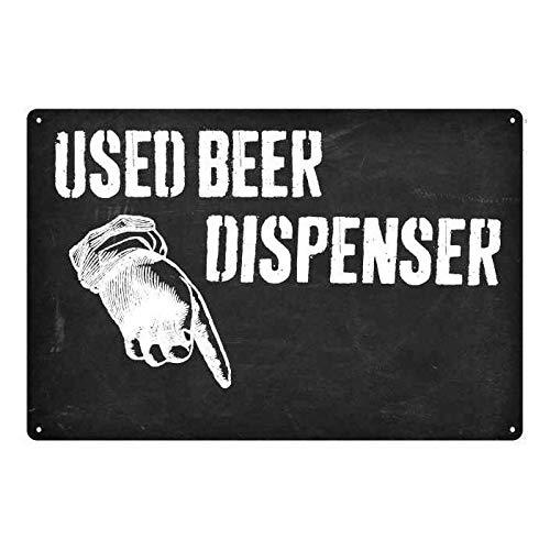 No Branded Dispensador de cerveza usado here. Divertido regalo de baño para decoración de pared