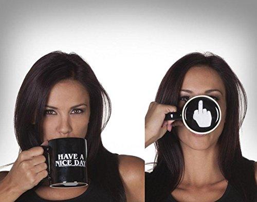 OAMORE Have A Nice Day Kaffeetassen Kreative Keramikbecher Tassen