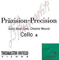 Cello Precisionスチールソリッドコアセット4/4ソフトクロム用Thomastik文字列