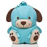 Pandana® Kinderrucksack Hubert Hund mit Brustgurt für Jungen und Mädchen im Kindergarten oder Kita für 2 bis 5-Jährige, aus isolierendem Neopren mit Anti-Lost-System