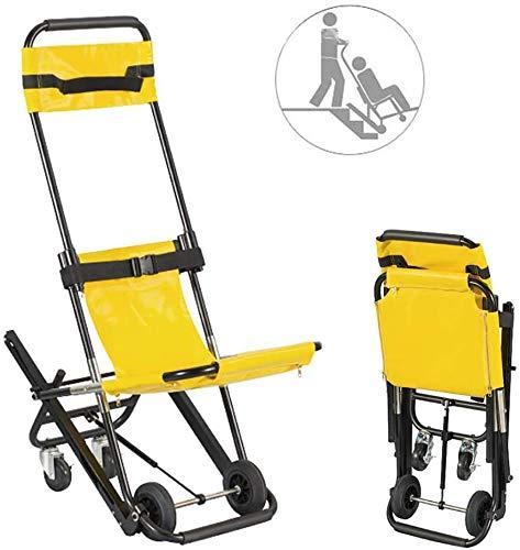 GLJY Treppenstuhl - Tragbarer Faltbarer Treppenbahre Medical Lift Treppenstuhl, Krankenwagen Feuerwehrmann Evakuierung Medical Lift Treppenstuhl mit Schnellverschlüssen
