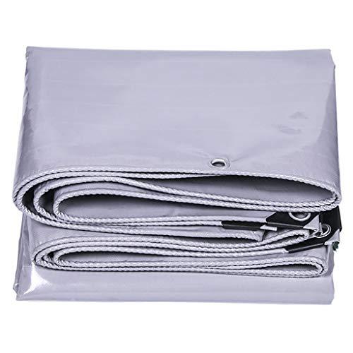 Dikke grijze poncho waterdicht zonnezeil zeildoek canvas outdoor tent doek push-pull luifel doek isolatie 3 * 5m