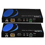 4K UltraHD Extender over HDBaseT by OREI , Balun Full 18Gbps Over CAT 5/6/7 Ethernet Cable - IR Signal - 230 Ft @ 1080P - 130 Ft @ 4K 60hz