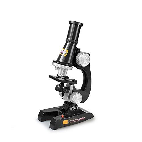 Microscopio para Niños Lente de vidrio óptico - Laboratorio Nacional de Óptica Estudiantil Biocompuesto Microscopio Monocular Full Metal Lente de vidrio óptico Preparación de la diapositiva Diapositiv