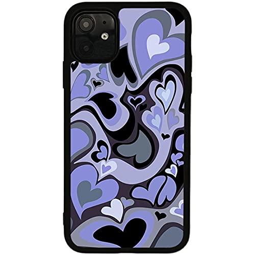 Estuche Blando para teléfono móvil Vortex en Forma de corazón púrpura Abstracto Adecuado para iPhone 11 12 Pro 6s 7 8 Plus X XS 11 Pro MAX XR Estuche Protector, para iPhone 11