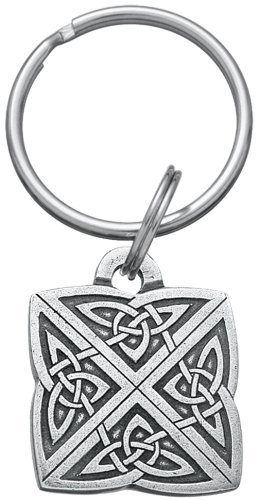 """DANFORTH - Celtic Love Knot Keychain – Handcrafted Pewter Irish Keychain For Men and Women - 1 ¼"""", Made In USA"""