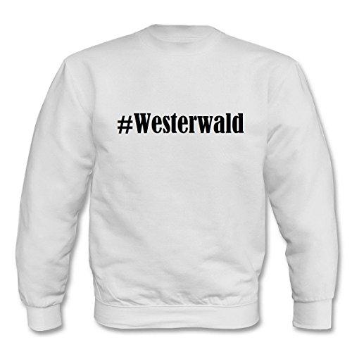Reifen-Markt Sweatshirt Damen #Westerwald Größe 2XL Farbe Weiss Druck Schwarz