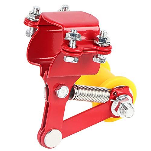 Tendeur de Chaîne de Moto, Keenso Outil de Tendeur de Chaîne de Réglage de Rouleau Modifiée Ajusteur de Chaîne Réglable Universel Convient à la Plupart des Motos(Red)