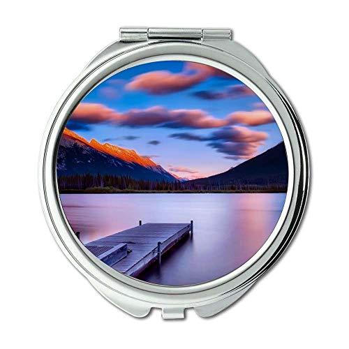Yanteng Spiegel, Schminkspiegel, Strandwolkenland, Taschenspiegel, tragbarer Spiegel