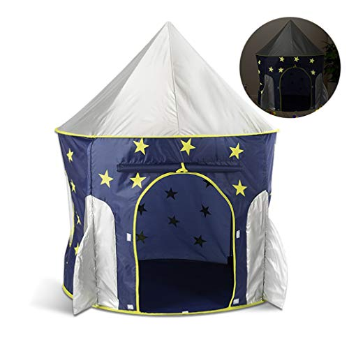 CHANG-dq Pink / Blue Conical Tents, Luminous Children's Tents Indoor Children's Castle Tents House /for Early Childhood Education Activities Household Tents ( Color : B , Size : 100*135CM )
