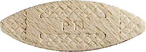 kwb Verbindungsplättchen Größe 10 für 10 mm Nuten 029110 (50 Stück, aus Buchenholz)