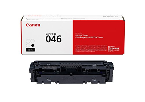 Canon Genuine Toner, Cartridge 046 Black (1250C001), 1 Pack, for Canon Color Image CLASS MF735Cdw, MF733Cdw, MF731Cdw, LBP654Cdw Laser Printers