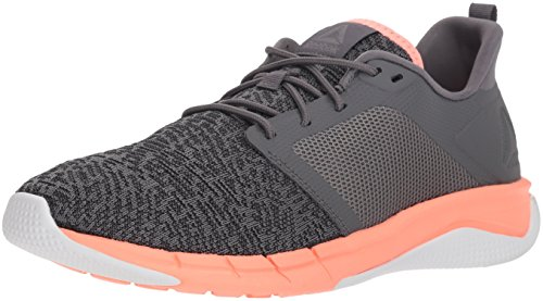 Reebok Women's Print Run 3.0 Shoe, Shark/ash Grey/Digital pi, 12 M US