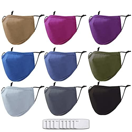 Cloth Face Masks Washable for Men Women Adults - Face Masks Reusable Adjustable 3Py