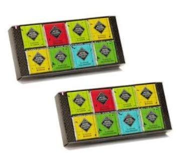 Michel Cluizel Chocolates de Plantation 16 Quadrate von organischen Plantagen Schwarze Schokolade - 2 x 80 Gramm