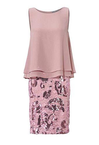 Ashley Brooke Damen Designer-Cocktailkleid mit Pailletten, Rose, Größe:34
