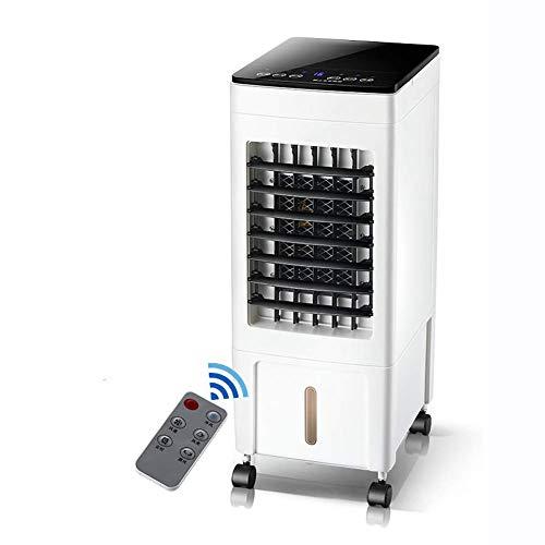 YANGLOU - Ventilador de aire acondicionado- Control remoto Refrigeradores evaporativos, ventilador de seguridad silencioso, ventilador de aire acondicionado LED, refrigerador de aire oscilante 8H Tiem