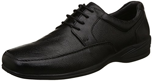 Hush Puppies Men's Jungle-Ii Black Leather Formal Shoes