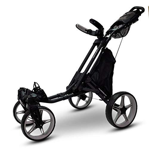CaddyTek Quad Tour Swivel 360 4-Rad Golf Push Trolley - 2